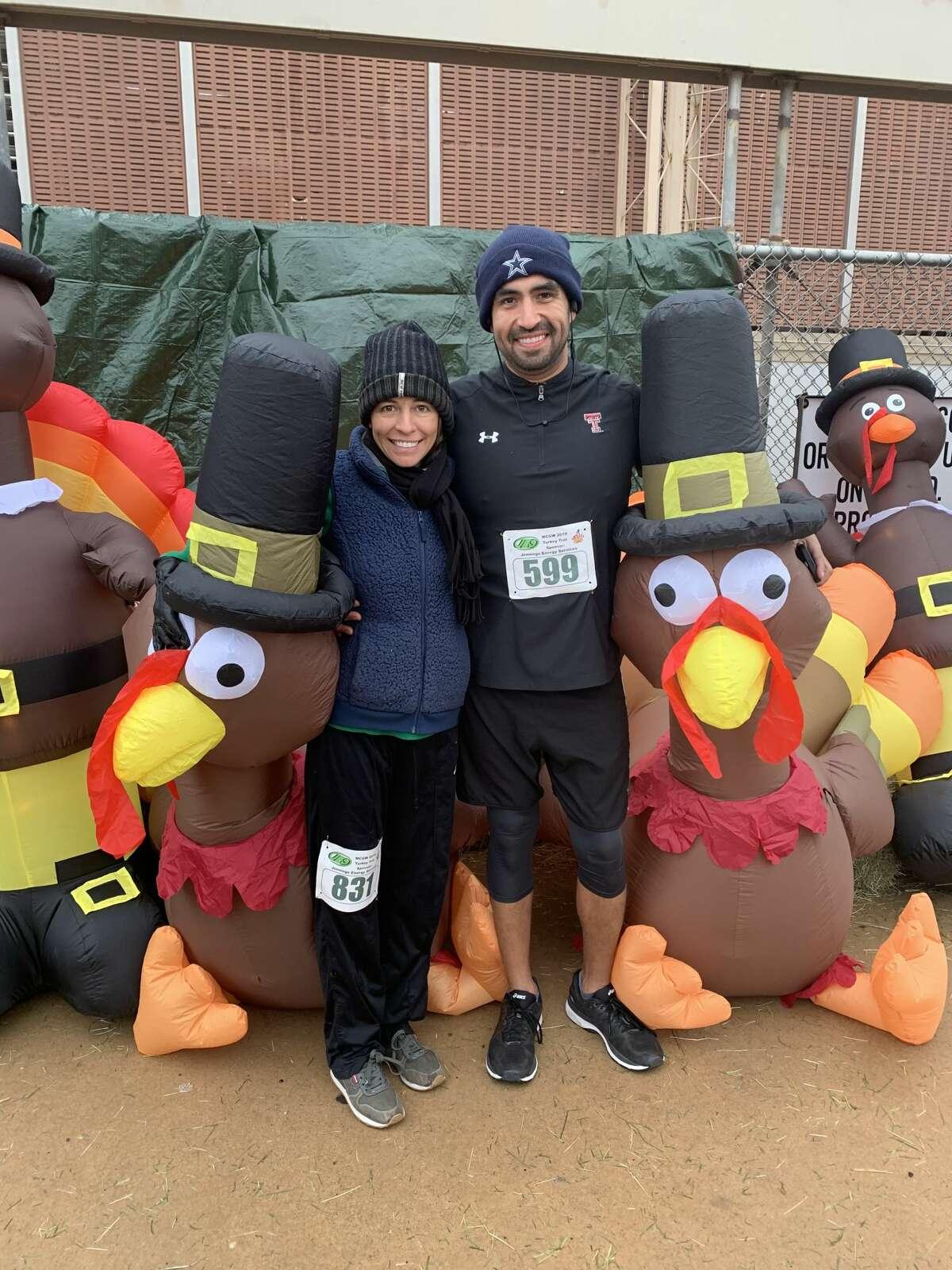 Turkey Trot: Wendy and Phil Padilla