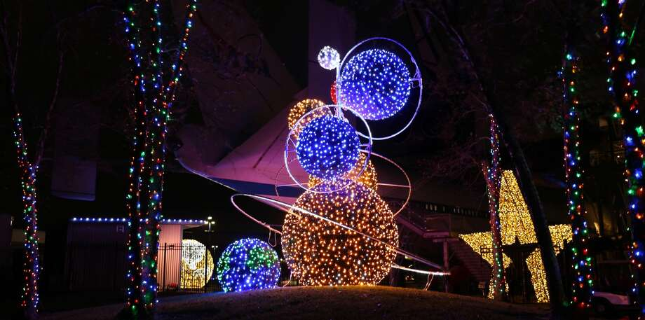 """Galaxy Lights,"" presented by Reliant, offers a multitude of indoor and outdoor light displays featuring more than 750,000 lights spanning more than one million square feet. Photo: Courtesy Space Center Houston"