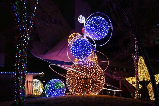 """""""Galaxy Lights,"""" presented by Reliant, offers a multitude of indoor and outdoor light displays featuring more than 750,000 lights spanning more than one million square feet."""