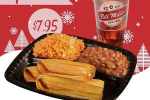 Bill Miller Bar-B-Q is promoting a $7 .95 special from Dec. 9-15 on a plate of tamales. The offer includes three pork tamales, two sides and a tea.