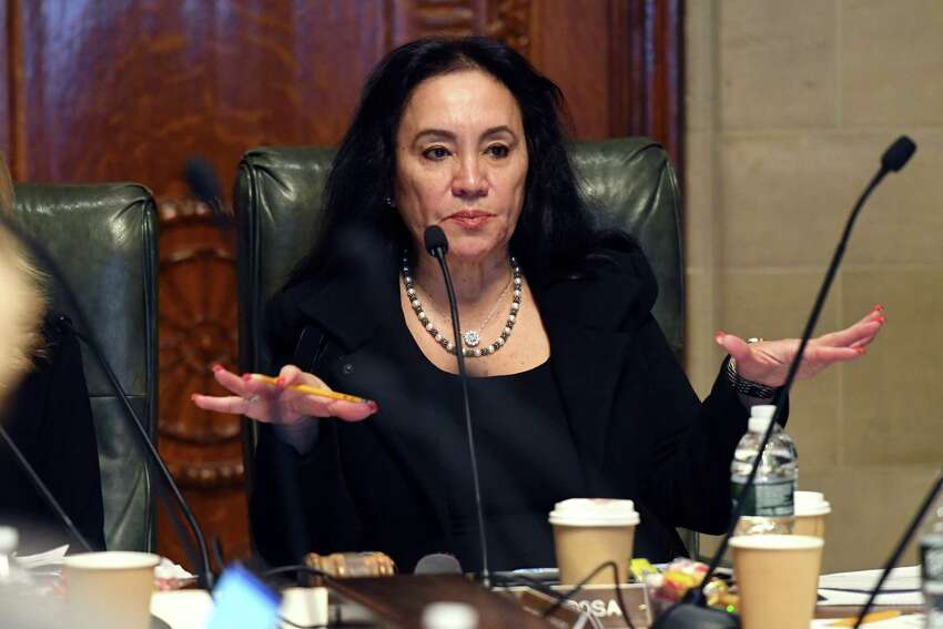 Board of Regents Chancellor Betty A. Rosa speaks during a meeting of the New York State Board of Regents on Monday, Dec. 9, 2019, at the state Education Building in Albany, N.Y. (Will Waldron/Times Union)