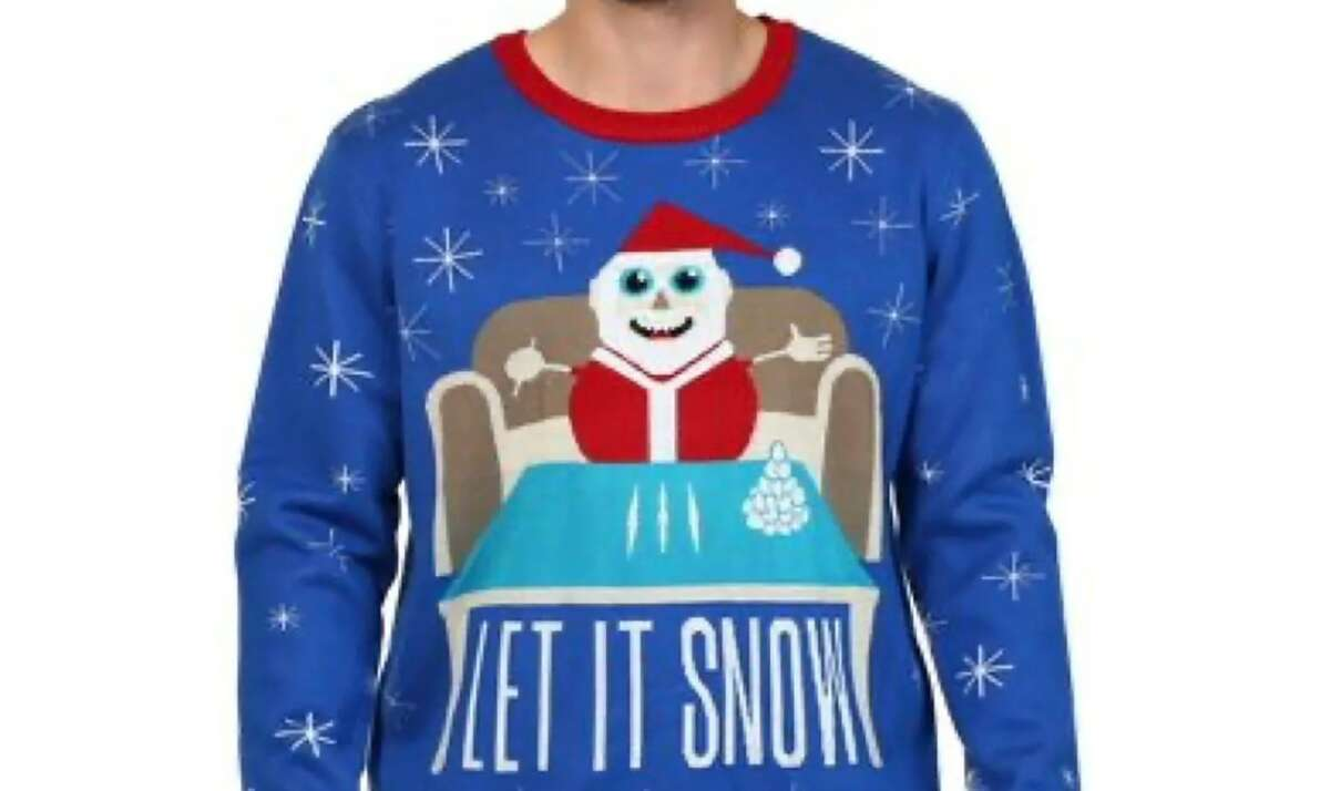 Walmart pulled a Christmas sweater showing a snowman Santa doing cocaine from its online store.