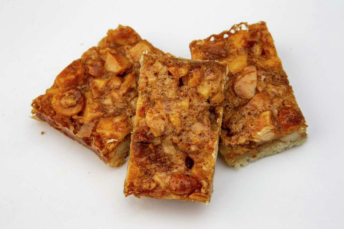 Maple Nut Bars from Claudia Smith are chewy indulgence with a macadamia nut crunch.