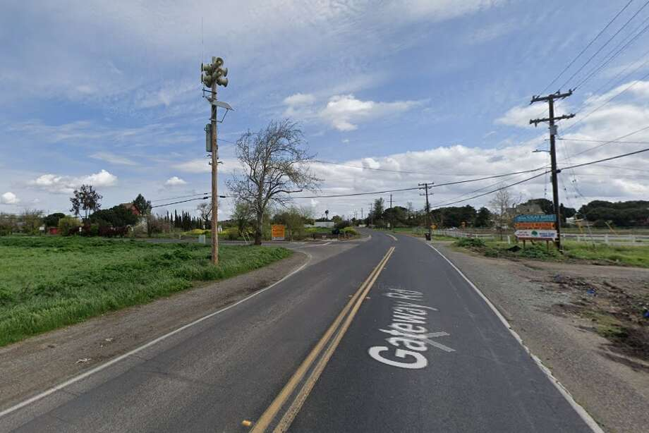 The CHP respondedSaturday to a report of a woman lying by the side of Gateway Road just west of Piper Road near Bethel Island. The woman was pronounced dead at the scene. Photo: Google Street View