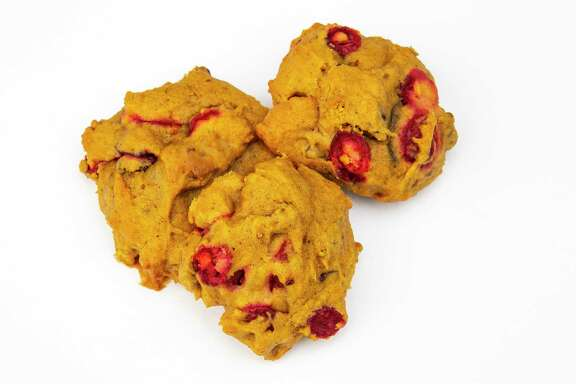 Cranberry-Orange Pumpkin Cookies pack familiar holiday flavors into one moist cookie.