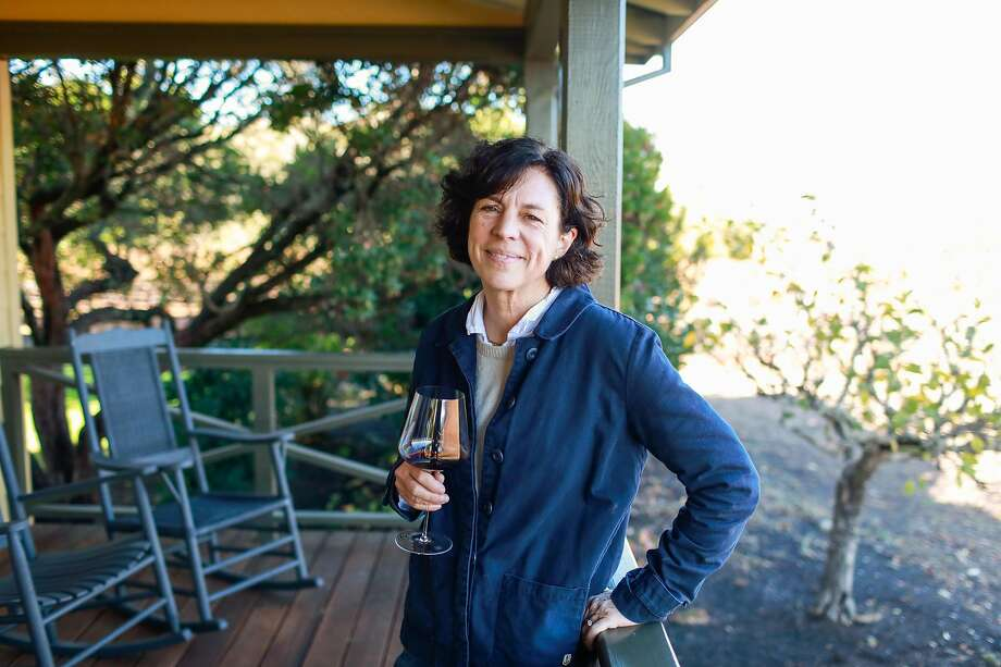 Francoise Peschon, pictured here at Vine Hill Ranch in Oakville, is The Chronicle's 2019 Winemaker of the Year. Photo: Gabrielle Lurie / The Chronicle