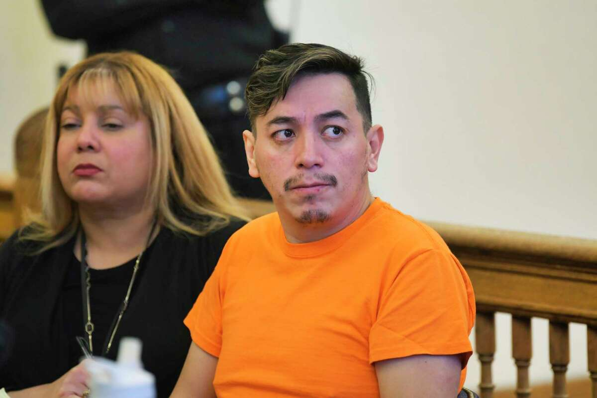 Anthony Ojeda, appears in Cohoes City Court for a preliminary hearing on Monday, Dec. 9, 2019, in Cohoes, N.Y. (Paul Buckowski/Times Union)