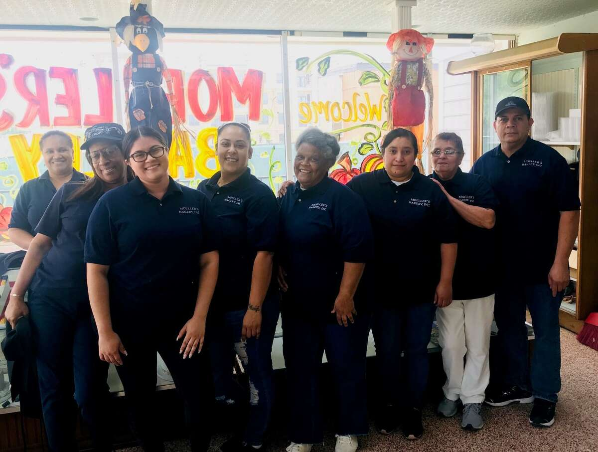 Eating locally supports the Houston economy and jobs. At Moeller's Bakery that was founded in 1930, the staff has more than 224 years of experience between them.