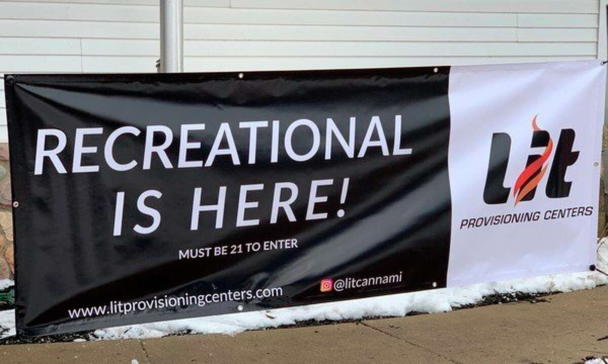 Lit Provisioning Center in Evart launched the sale of recreational use marijuana on Friday, Dec. 6. Lit has sold marijuana for medical use since 2018. (Herald Review photo/Cathie Crew)