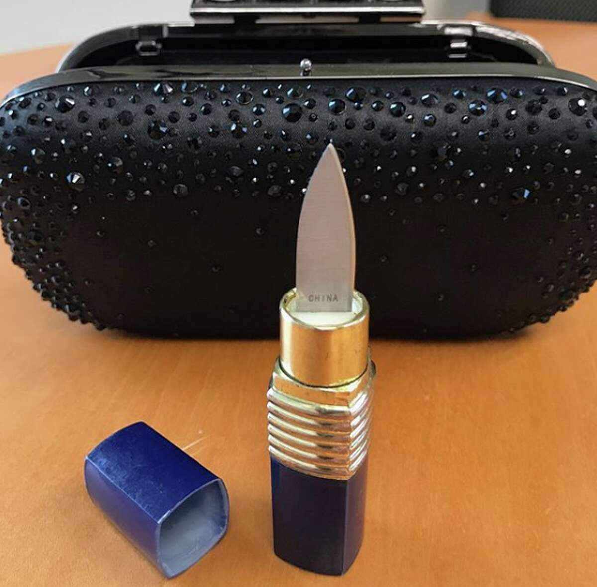 Bond villainesses, be advised: Lipstick that turns into a dagger must be packed in a checked bag, not a carry-on.