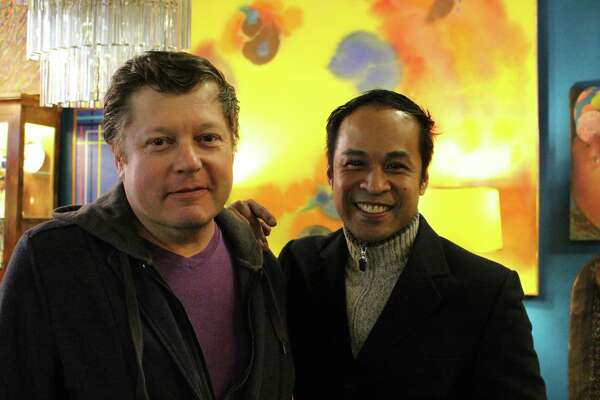 Glen Adams and Arthur Dabu Jimenez, owners of Tongue in Chique at 1069 Connecticut Ave. in Bridgeport