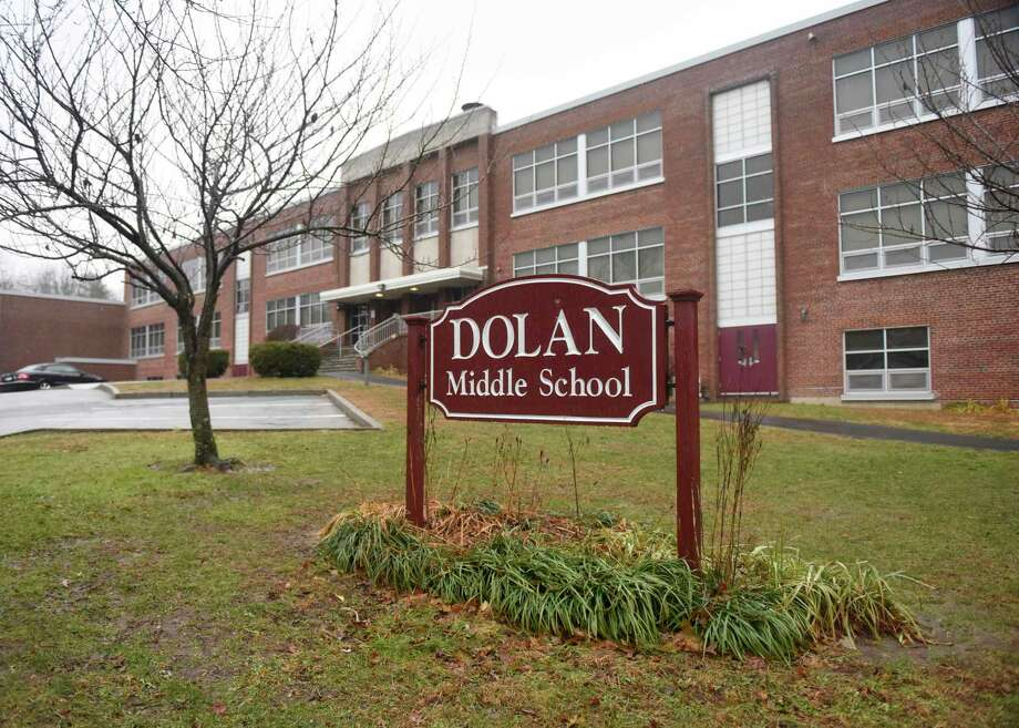 Dolan Middle School in Stamford was closed on Monday due to flooding caused by a fire pump malfunction in the boiler room. Photo: Tyler Sizemore / Hearst Connecticut Media / Greenwich Time
