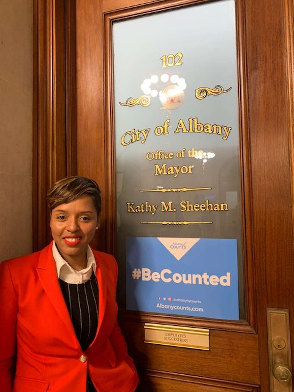 Albany Common Councilwoman Dorcey Applyrs was picked by Mayor Kathy Sheehan to fill the upcoming vacancy for the chief city auditor. She will assume the new role and resign from her post as councilwoman, which she has held since 2014, on Jan. 1, 2020. (Amanda Fries / Times Union)