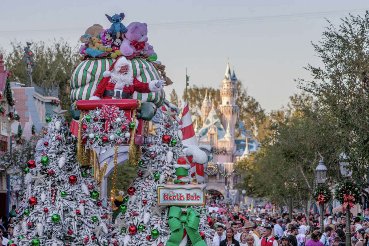 Planning on hitting Disneyland this Christmas? Here's how to visit the happiest place on Earth during the most festive time of the year. Scroll ahead to see some tips about how to save some cash while at the parks. Pictured: The Disneyland Resort transforms into the Merriest Place on Earth for the holiday season, Nov. 8, 2019, through Jan. 6, 2020.