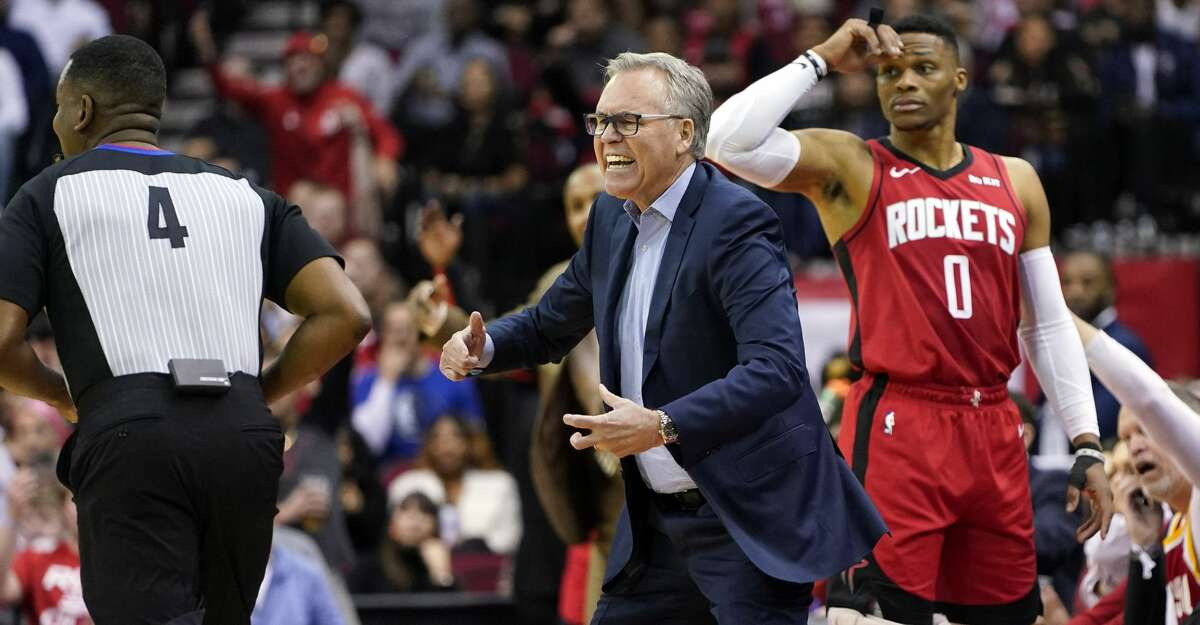 PHOTOS: Rockets game-by-game Houston Rockets coach Mike D'Antoni, center, yells at the officials as Russell Westbrook (0) watches during the first half of an NBA basketball game against the Dallas Mavericks Sunday, Nov. 24, 2019, in Houston. (AP Photo/David J. Phillip) Browse through the photos to see how the Rockets have fared in each game this season.