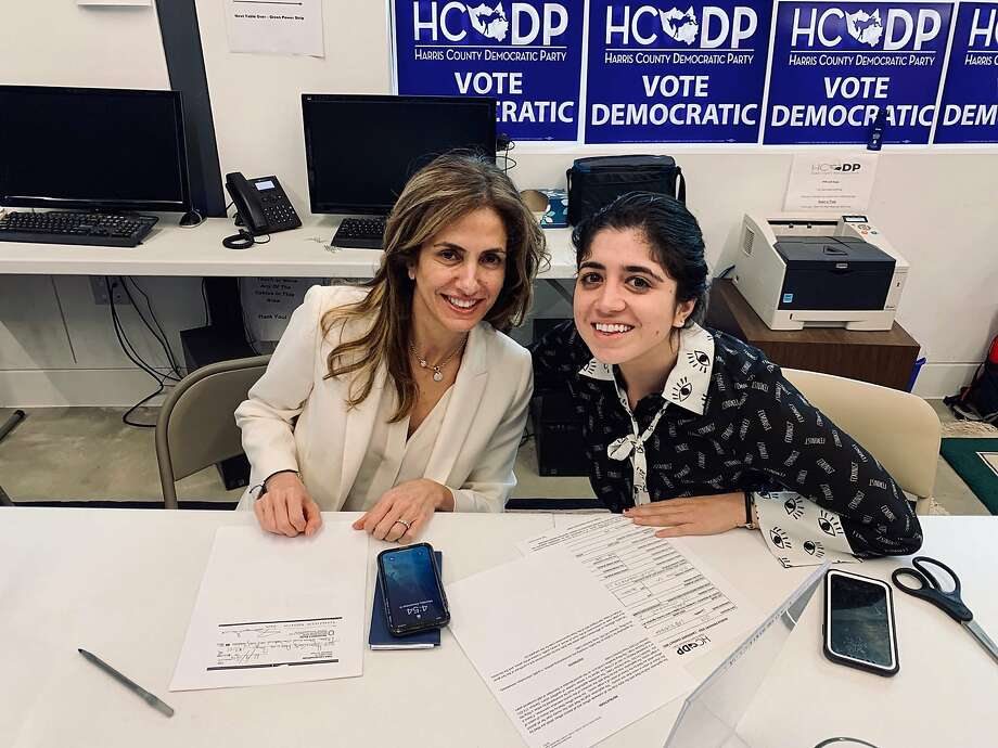 Sima Ladjevardian, left, a Houston attorney and former adviser to Senate candidate Beto O'Rourke, filed Monday to run for the 2nd Congressional District and soon after picked up O'Rourke's endorsement. Photo: Sima Ladjevardian Twitter