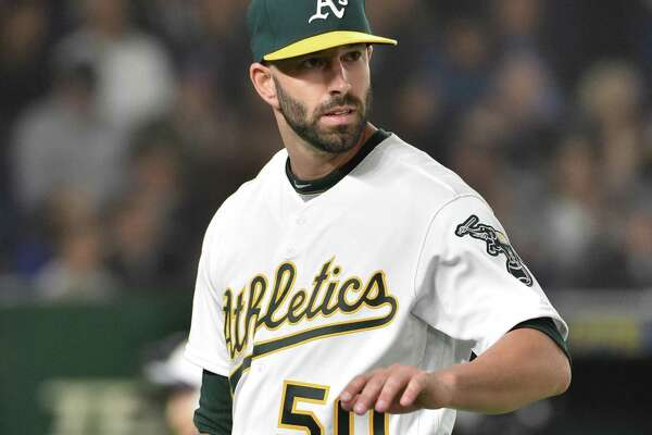 Mike Fiers led the 2017 Astros in innings pitched but is now an AL West rival with the Oakland A's.