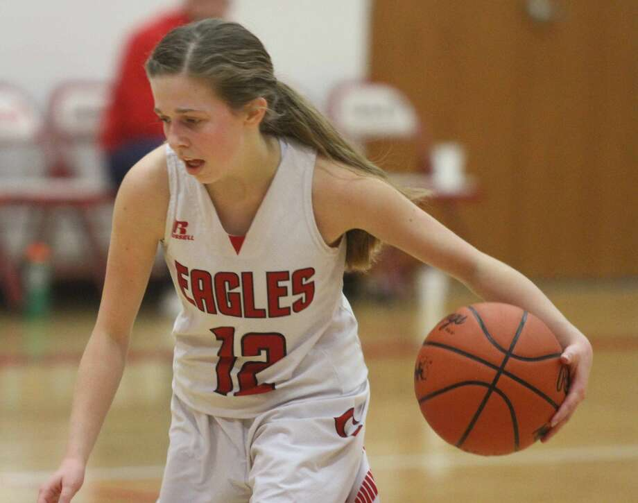 The Caseville Eagles dropped their home opener against Dryden by a score of 57-23 on Monday, Dec. 9. Photo: Eric Rutter/Huron Daily Tribune