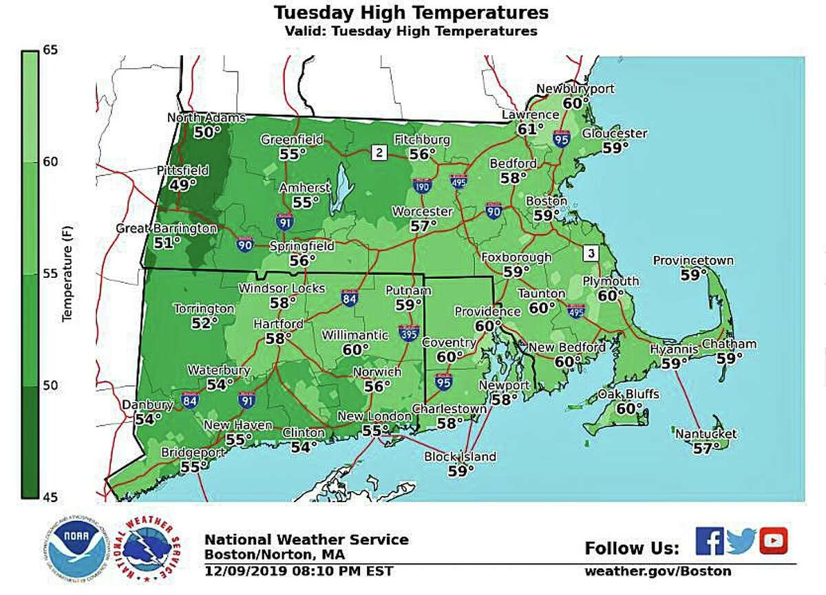 Despite another round of showers developing Tuesday, especially during the afternoon it will be unseasonably mild. Highs will will in the 50s across the interior to near 60 close to the coast. Big changes Tuesday night with snow arriving for many for the Wednesday AM commute.