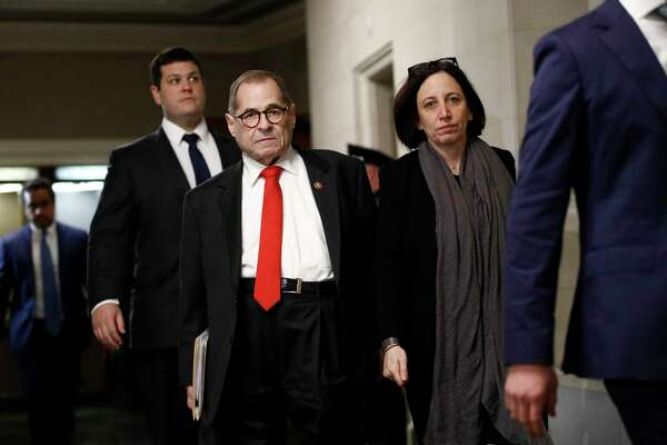 House Judiciary Committee Chairman Jerrold Nadler, D-N.Y., departs after the House Judiciary Committee heard investigative findings in the impeachment inquiry of President Donald Trump, Monday, Dec. 9, 2019, on Capitol Hill in Washington.