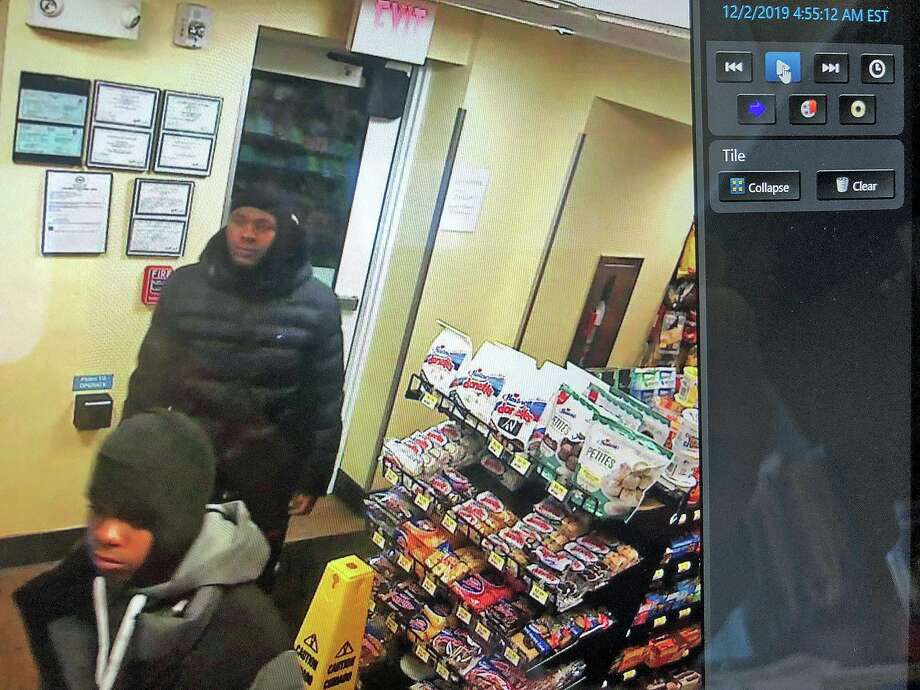 Detectives are investigating a motor-vehicle theft that occurred on Dec. 2, 2019 on Penny Lane inn Norwalk. Detectives are requesting assistance with identifying the three male suspects. Photo: Norwalk Police Photo