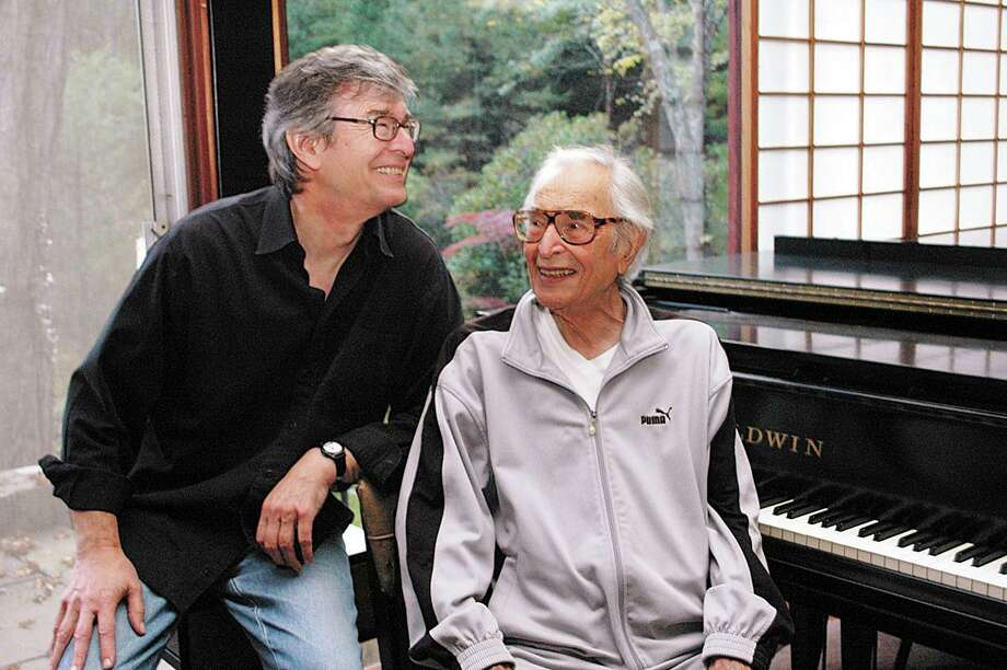 Darius Brubeck, shown here with his father Dave Brubeck in 2011, will talk about is father's career and musical influence during the first lecture in the Scholarly Series, Jazzed Up: The History of Jazz in America on Jan. 16, 2020. Photo: Chris Davis / Hearst Connecticut Media / Wilton Bulletin