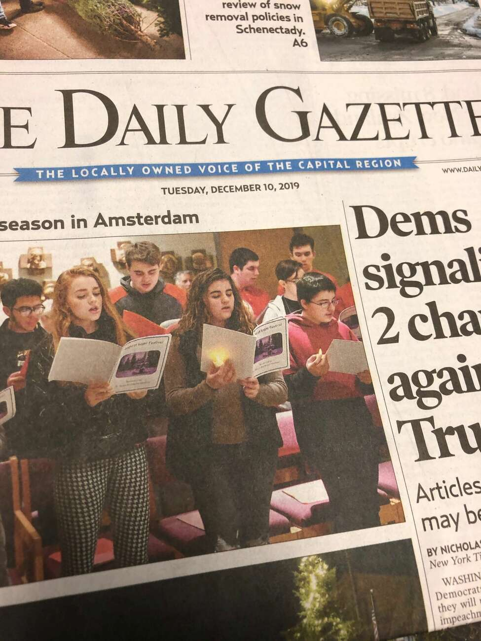 Daily Gazette newspaper on December 10, 2019.