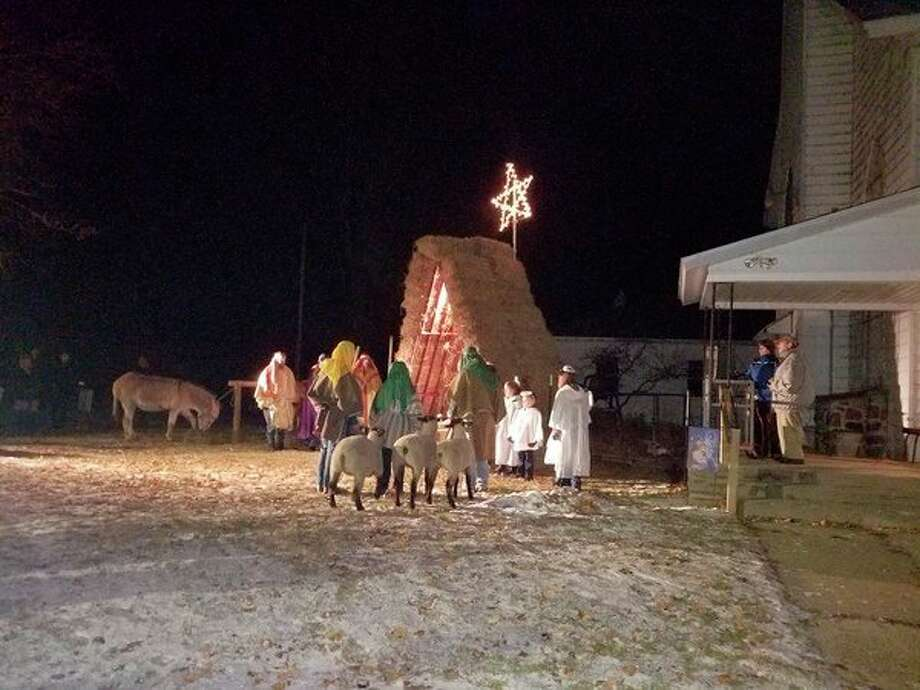 Featured is the live nativity scene from last year's holiday activities. These activities are hosted by the Hersey United Methodist Church. (Courtesy photo)