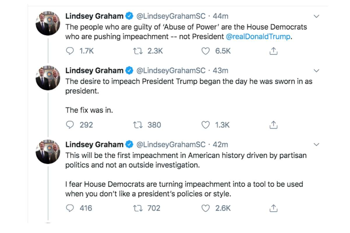 Politicians on both sides of the aisle reacted to House Democrats announcing two articles of impeachment onDec. 11, 2019 against President Donald Trump.