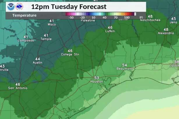 Cool temperatures will stick around in Houston after a cold front Dec. 10, 2019.