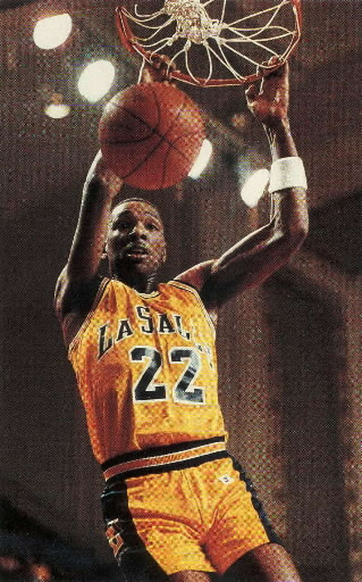 Former La Salle great Lionel Simmons led the Explorers to the 1990 Metro Atlantic Athletic Conference title at Knickerbocker Arena in Albany. (Times Union archive)
