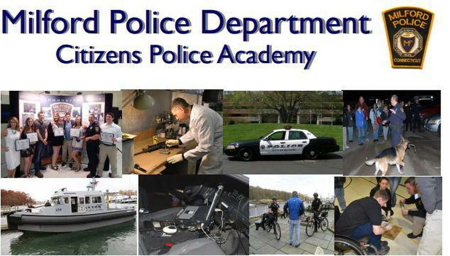 The Milford Police Citizens Academy will be held Thursdays, Feb. 6 through April 23, from 6:30-9 p.m., at police headquarters. Photo: Kerry Ducey