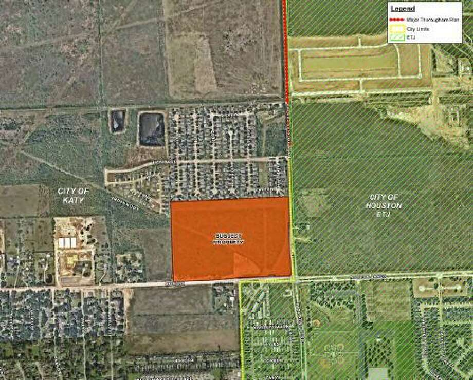 Katy City Council voted 4-0 at its Dec. 9 meeting against changing the zoning of the parcel at the northwest corner of Morton Ranch Road and Katy Hockley Cut-Off Road to a planned development district. The rezoning would have allowed commercial development in what is now a residential zone. Photo: City Of Katy / City Of Katy
