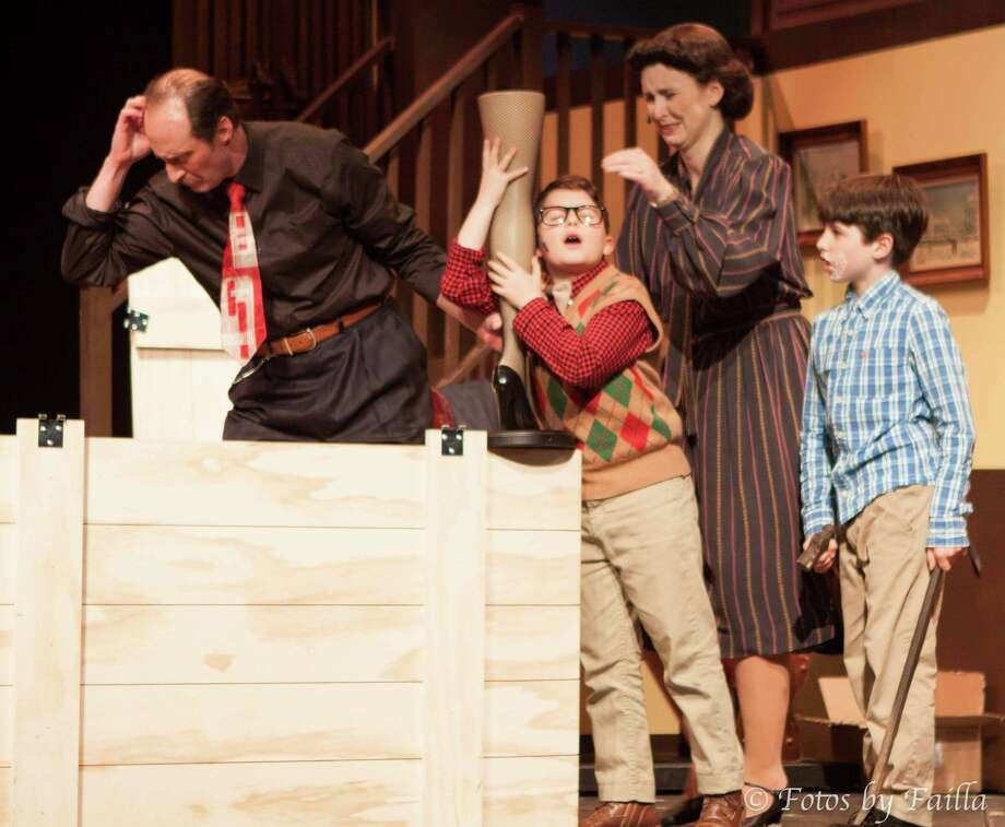 """""""A Christmas Story, The Musical"""" has been extended at Curtain Call in Stamford through Dec. 15. Photo: Curtain Call / Contributed Photo"""