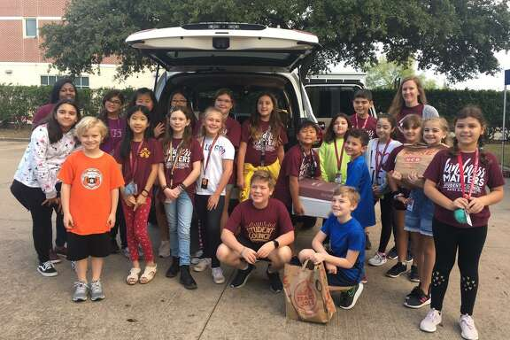 Hayes Elementary Student Council again participated in Channel 13's annual Share Your Christmas Food Drive at Maud Marks Library on Friday, Dec. 6. Donations were delivered to Katy Christian Ministries.