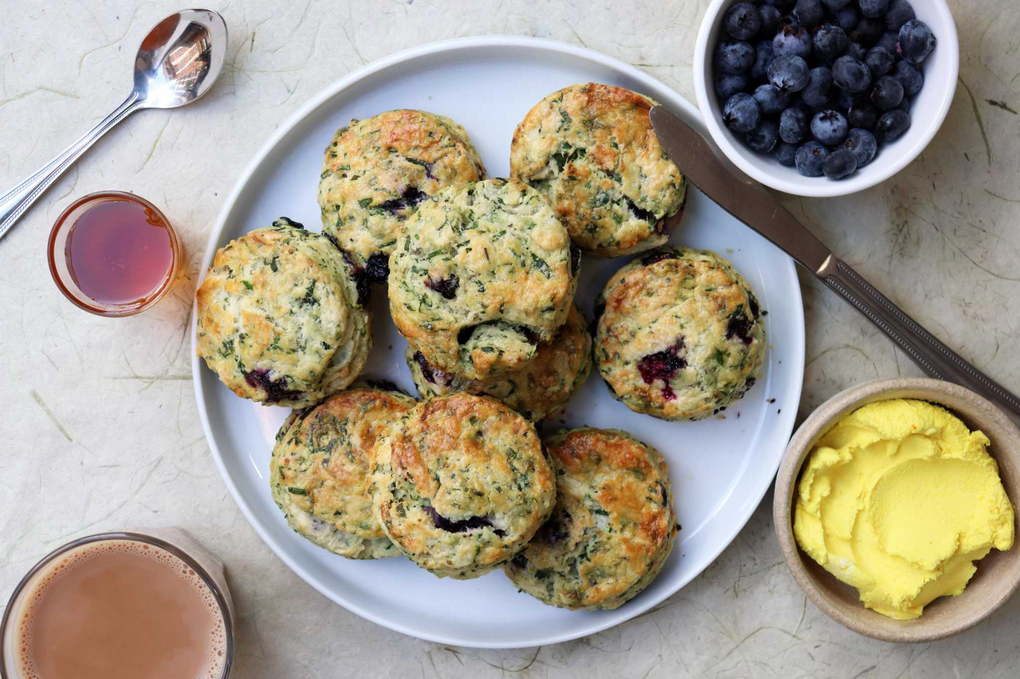 Fenugreek and blueberries are a match made in these heavenly Southern-style biscuits