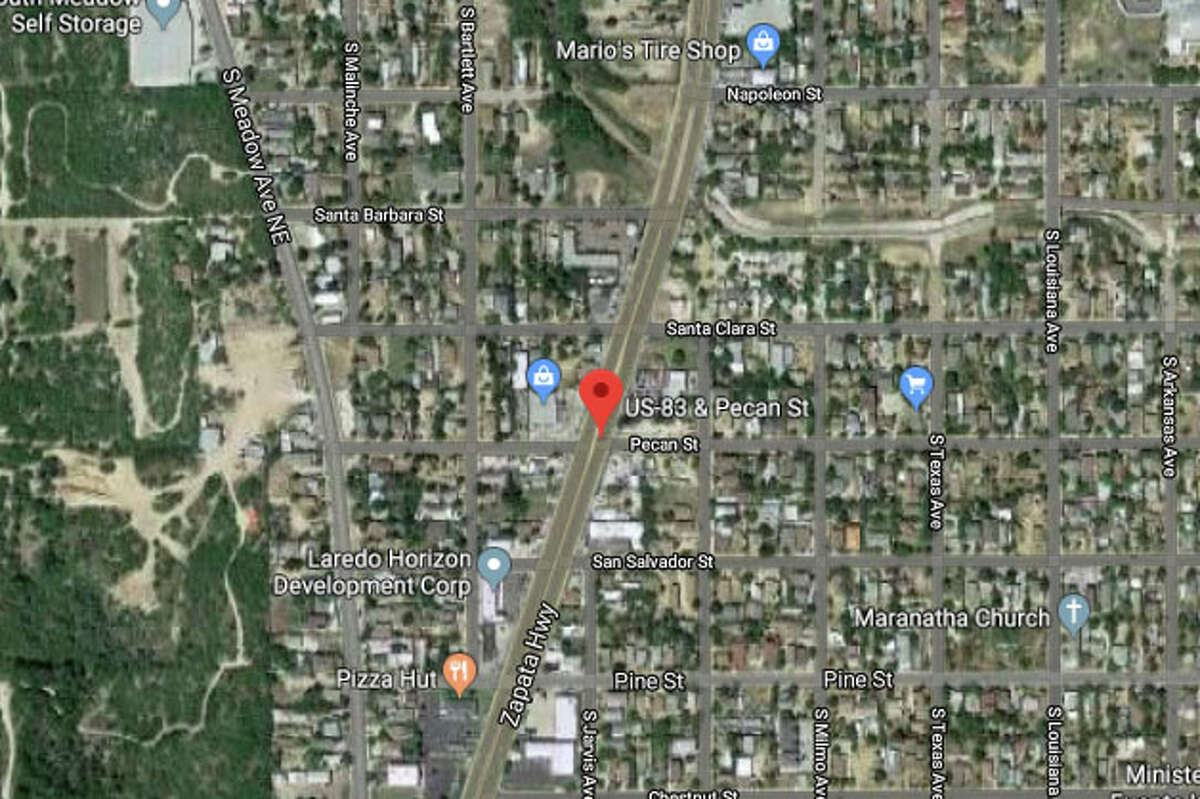 Laredo police officers responded to the incident at about 7 p.m. by the intersection of U.S. 83 and Pecan Street.