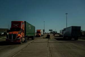Trucks come and go across the Rio Grande between Laredo, Texas and Nuevo Laredo, Mexico, Jan. 12. That's trade. The U.S. Senate needs to move quickly in its approveal of the USMCA, a needed update to NAFTA.