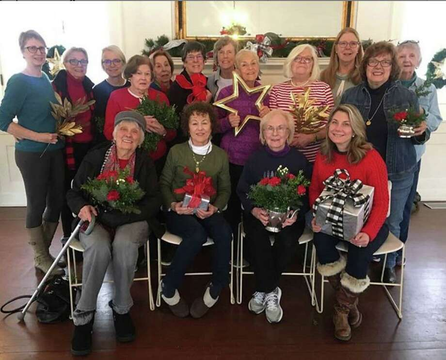 Members of the Caudatowa Garden Club paused for a photo between decorating the Keeler Tavern Museum's Garden House for the annual Christmas Luncheons. The luncheon is $30 per person; wine is available for an additional $5 per glass. There will be a special menu for children under 12 for $15 on Saturday, Dec. 14. Photo: Instagram Photo