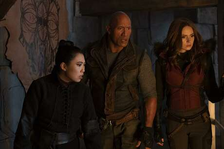 Awkwafina,Dwayne Johnson, and Karen Gillan in Jumanji: The Next Level (Frank Masi/Sony Pictures/TNS)