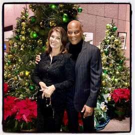 Karen and Ronnie Lott hosted their All Stars Helping Kids fundraiser at 555 California Street. Dec. 3, 2019.