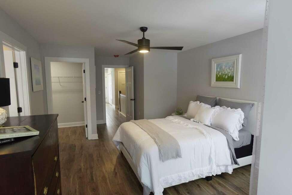 A view of a bedroom inside one of the units at the new Barrett Street townhomes on Tuesday, Dec. 10, 2019, in Schenectady, N.Y. The two bedroom, two and a half bath townhomes are phase one of a larger neighborhood redevelopment that is planned for the area. (Paul Buckowski/Times Union)