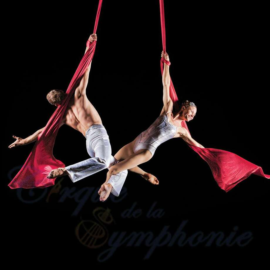 Aerialists from Cirque de la Symphonie will perform during the Hartford Symphony program. Photo: The Bushnell / Contributed Photo