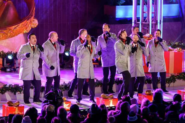 Straight No Chaser performs during the 87th annual Rockefeller Center Christmas tree lighting ceremony on Dec. 4.