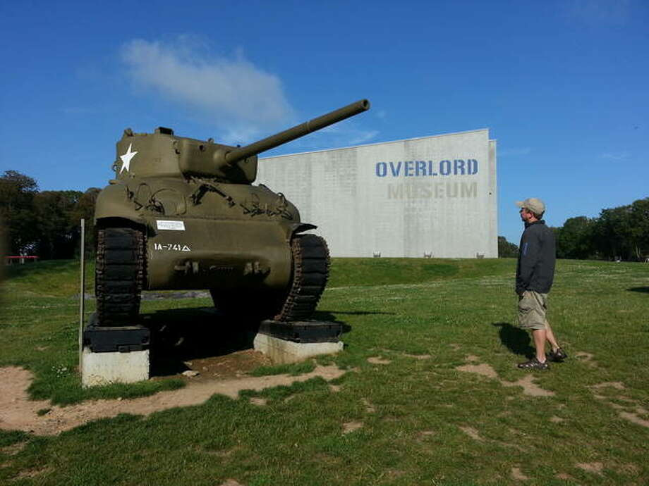 Lou Baczewski at the Overlord Museum, which bears the name of Operation Overlord (code name for the Battle of Normandy), which was given the mission to land on the coast of Normandy at various points, and progressively head inland to liberate France. Photo: Submitted Photos