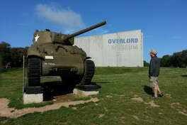 Lou Baczewski at the Overlord Museum, which bears the name of Operation Overlord (code name for the Battle of Normandy), which was given the mission to land on the coast of Normandy at various points, and progressively head inland to liberate France.