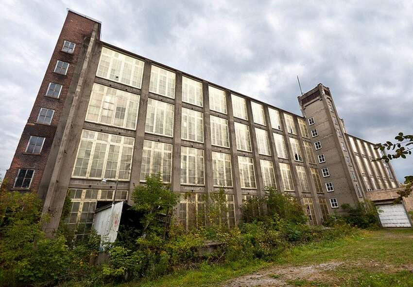 An exterior shot of Victory Mills in Victory, N.Y.