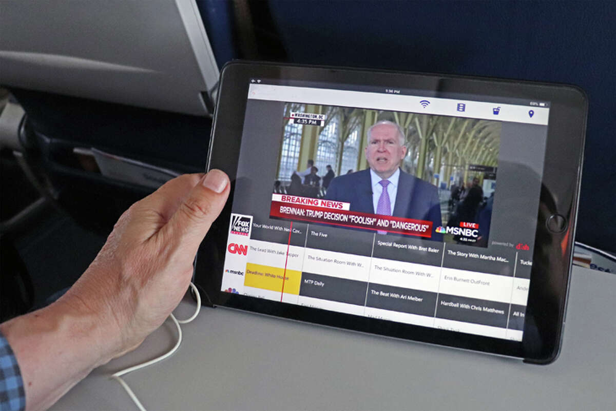 Streaming content on in-flight Wi-Fi eats up bandwidth.