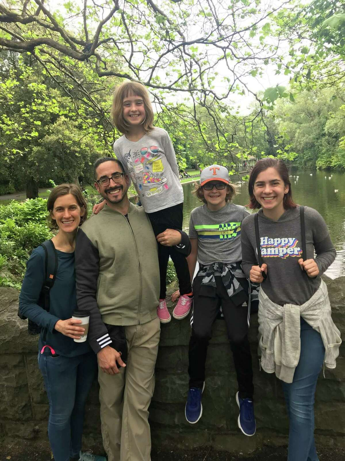 With the grant money he was awarded, Pastor Sean Steele and his family will be traveling to South America for several weeks to an immersive Spanish language school. From left to right: Becky Steele, Sean Steele, and their children Nora, Sebastian, and Margo.