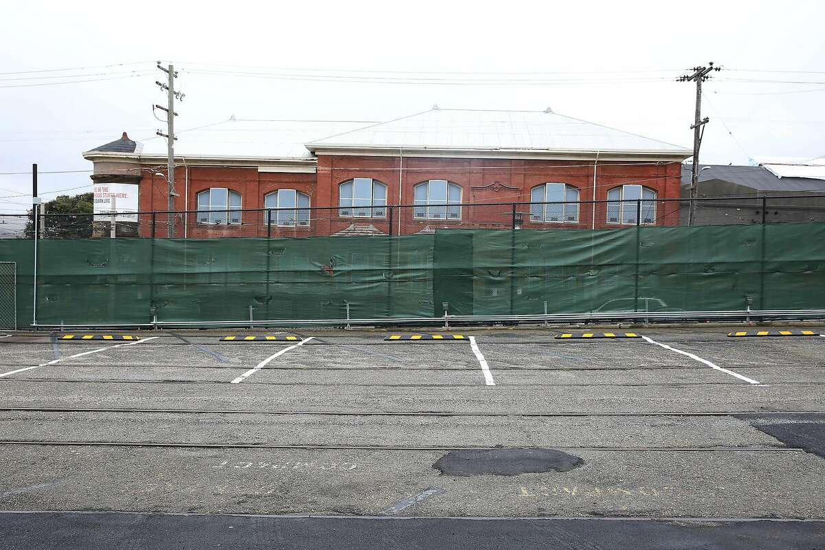 The parking lot at San Jose and Geneva Avenues, which will be the first safe parking spot for RV's, is seen on Monday, December 9, 2019 in San Francisco, Calif.